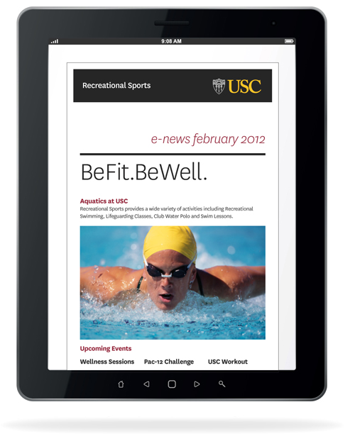 e newsletters usc student affairs