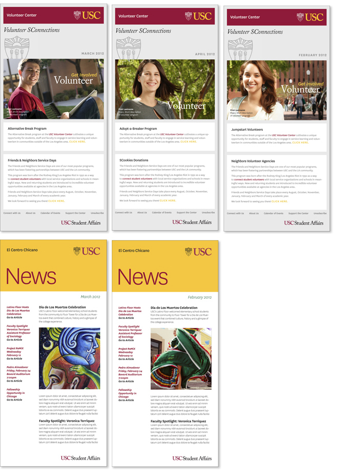 E-Newsletters | USC Student Affairs