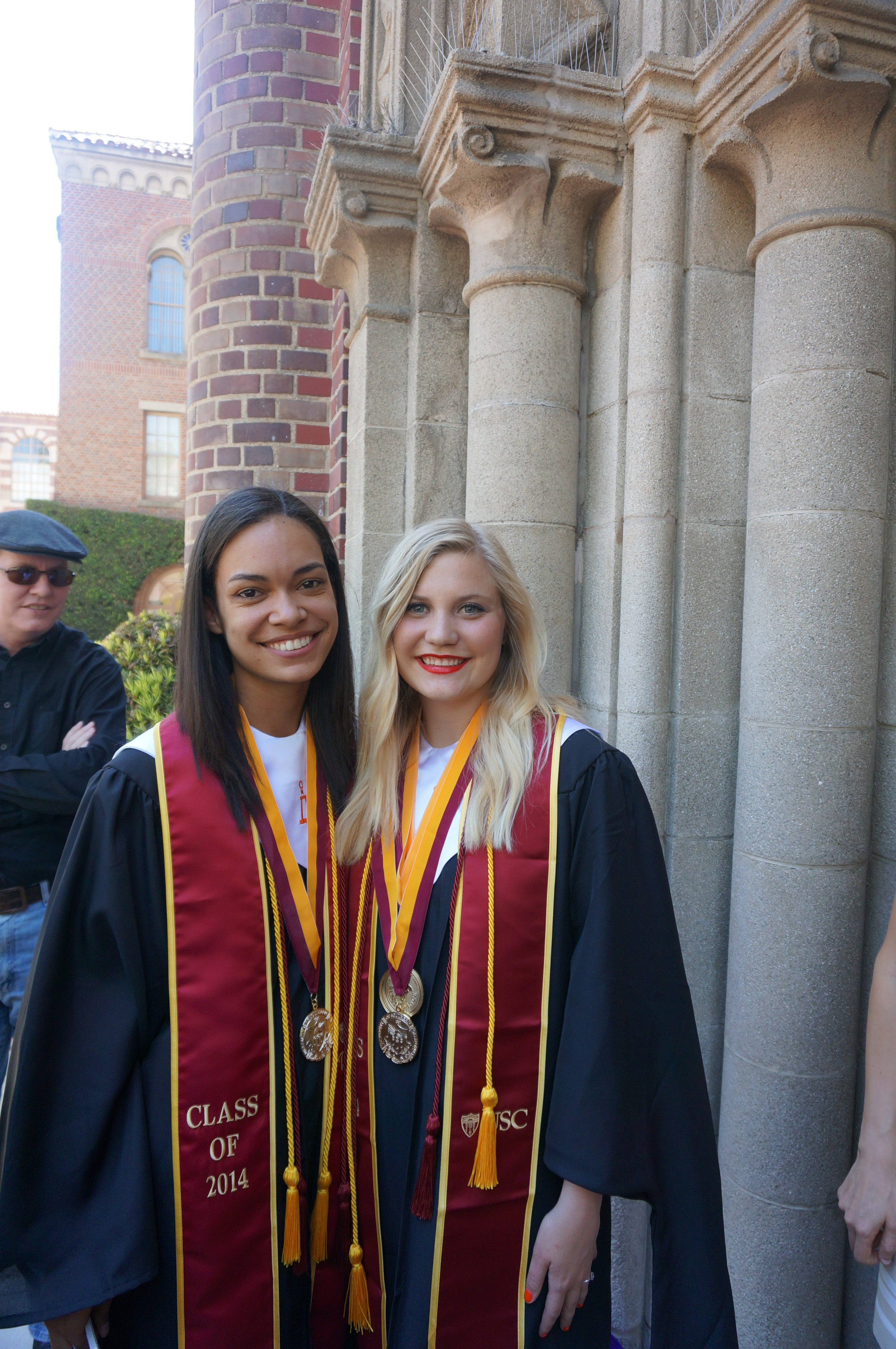 Aja Canyon (left) and Kirsten Rice were surprised and honored to be named to the Order of the Laurel and the Palm, awarded to undergraduates who have exemplary leadership and excellent scholarship.