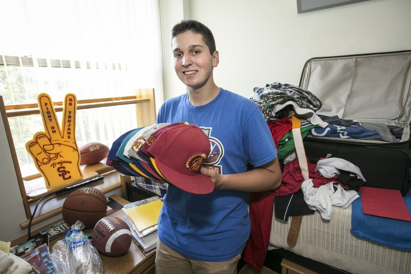 Freshman Danyal Brink is at once avid athlete, sports fan, curious chemist and quoter of Latin. (Photo/David Sprague)