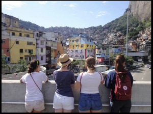 Students at Rocinha, Rio de Janeiro's largest favela. (Photo by Caitlin Sims)