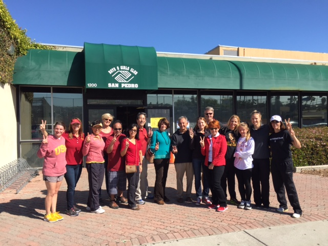 USC parents volunteered at the San Pedro Boys and Girls Club on the Day of SCervice in 2016.